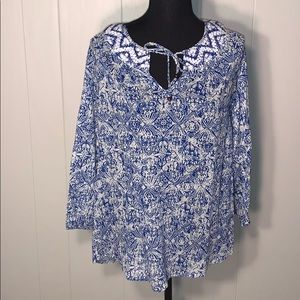 Lucky Brand long sleeve top size medium